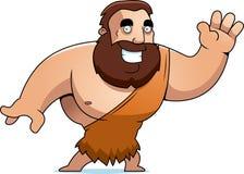 Cartoon Barbarian Waving Stock Photo