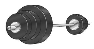 Cartoon barbell Stock Images