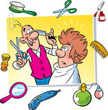 Cartoon barbershop Royalty Free Stock Photography