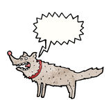 Cartoon barking dog Stock Photo