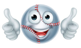 Cartoon Baseball Ball Man Character Royalty Free Stock Photo