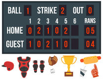 Cartoon baseball player icons batting vector design american game athlete sport league equipment Stock Image