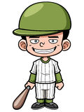 Cartoon Baseball Player Stock Photography