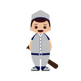 Cartoon baseball player vector illustration Stock Images