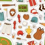 Cartoon baseball seamless pattern vector Royalty Free Stock Images