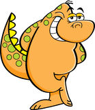 Cartoon bashful dinosaur. Stock Images
