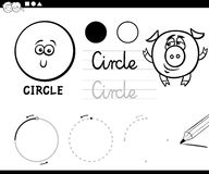 Cartoon basic geometric shapes Royalty Free Stock Photos