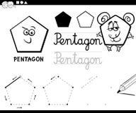 Cartoon basic geometric shapes Royalty Free Stock Image