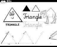 Cartoon basic geometric shapes Royalty Free Stock Images