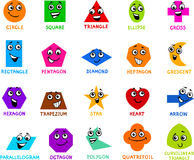 Cartoon basic geometric shapes Royalty Free Stock Photos