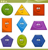Cartoon Basic Geometric Shapes Royalty Free Stock Images