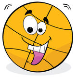 Cartoon basketball Stock Images