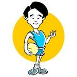 Cartoon of basketball asian man Royalty Free Stock Images
