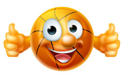 Cartoon Basketball Ball Character Royalty Free Stock Photography