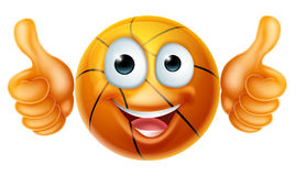 Cartoon Basketball Ball Man Character Royalty Free Stock Photos