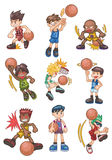 Cartoon basketball icon Stock Photo