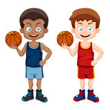 Cartoon basketball player Royalty Free Stock Image