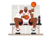 Cartoon basketball player Royalty Free Stock Photography