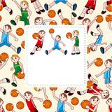 Cartoon basketball player card Royalty Free Stock Images