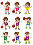 Cartoon basketball player icon. Vector drawing Royalty Free Stock Images