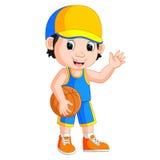 Cartoon basketball player Royalty Free Stock Photography