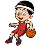 Cartoon basketball player. Vector illustration of cartoon basketball player stock illustration