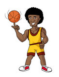 Cartoon basketball player Stock Images
