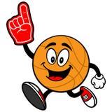 Cartoon Basketball Running with Foam Finger Stock Image