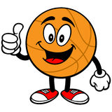 Cartoon Basketball Thumbs Up Royalty Free Stock Images