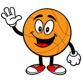 Cartoon Basketball Waving Royalty Free Stock Photo