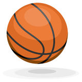 Cartoon basketball. Royalty Free Stock Image