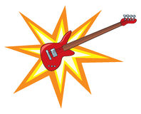 Cartoon Bass Blast Stock Photography