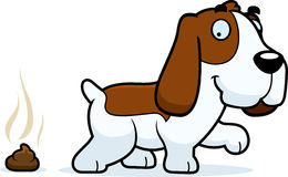 Cartoon Basset Hound Poop Royalty Free Stock Images