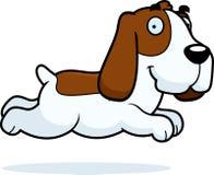 Cartoon Basset Hound Running Stock Photo