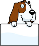 Cartoon Basset Hound Sign Royalty Free Stock Image