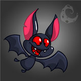 Cartoon bat. Halloween vector cute bat icon. Halloween element Stock Photos
