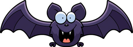 Cartoon Bat Smiling Stock Image