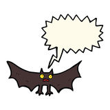 Cartoon bat with speech bubble Royalty Free Stock Photo