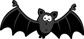 Cartoon Bat Surprised Royalty Free Stock Photo