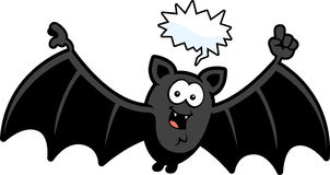 Cartoon Bat Talking Royalty Free Stock Photo