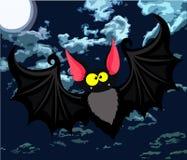 Cartoon bat. Vector illustration. Vector illustration of funny cartoon bat Stock Photos