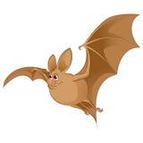 Cartoon Bat. Vector image of an cartoon brown Bat Royalty Free Stock Photo