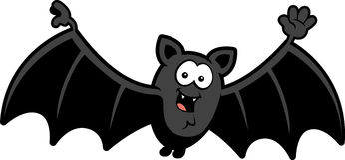 cartoon bat waving stock photography - Bat Cartoon