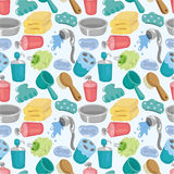 Cartoon Bathroom Equipment seamless pattern Royalty Free Stock Image