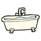 Cartoon bathtub Stock Photography