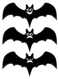 Cartoon bats. On white background Stock Images