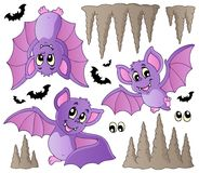 Cartoon bats collection Stock Photography