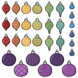 Cartoon Bauble Set Royalty Free Stock Photography
