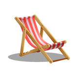 Cartoon beach chair isolated on white background. Stock Images