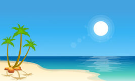 Cartoon beach scenery collection stock Royalty Free Stock Photography